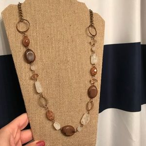 Cute gold, brown and rose necklace